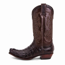 Bottes 10004 Cuervo Alligator cresta marron