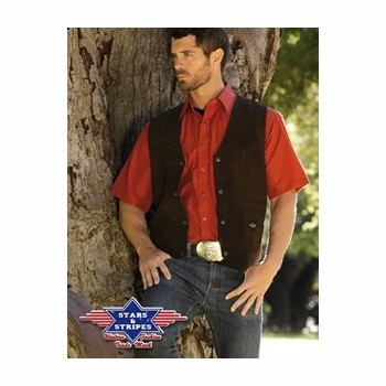 Gilet cuir Alabama Stars and Stripes Gilets coupe homme st-alabama