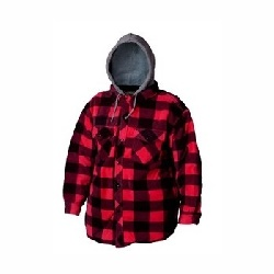 Veste polaire Plaid rouge
