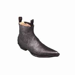 Bottines LUIS IMITATION LEZARD NOIR