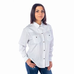 Chemise country blanche femme