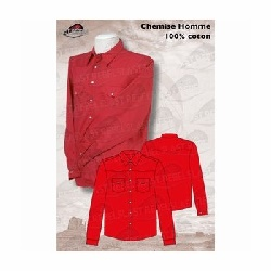 Chemise western homme rouge