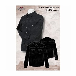 Chemise western homme noire