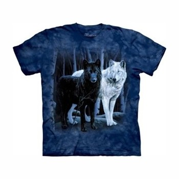 T-shirtblack and white wolves MT1106 Tee Shirt, débardeurs The Mountains MT-1106
