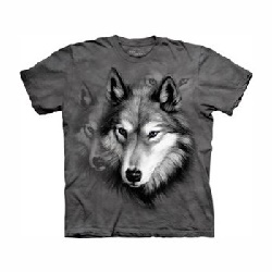 T-shirt wolf portrait MT1238