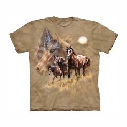T-shirt patriot horses MT3294