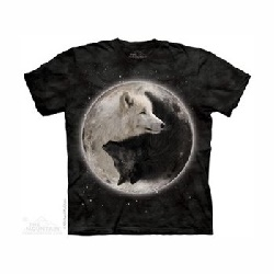 T-shirt yin yang wolves MT3922