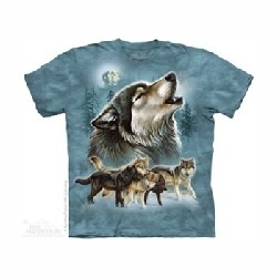 T-shirt old shool wolf collage MT3988