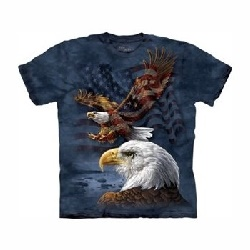 T-shirt eagle flag collage MT8207