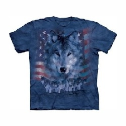 T-shirt patriotic wolf pack MT8228