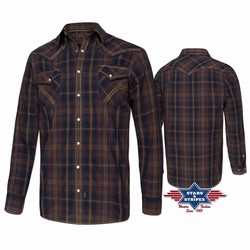Longues Chemises Vetements Western Chemise Manches Homme Country 6yfy7bg BordCxeW