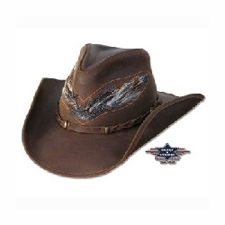 Chapeau cuir Outback