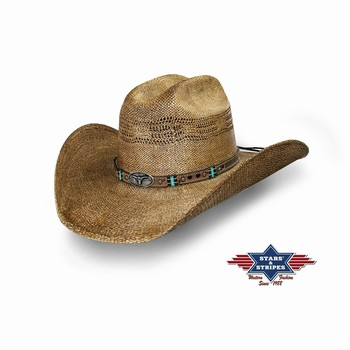 Chapeau country paille Pinedale Stars and Stripes Chapeaux Paille st-pinedale