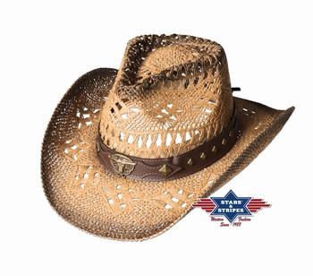 Chapeau paille Sunset Stars and Stripes Chapeaux Paille st-sunset