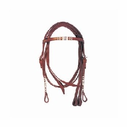 Bridon western garniture cuir